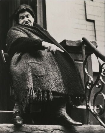 Lisette Model (American, b. Austria, 1901–1983) Lower East Side (woman), New York, ca. 1942 Printed later Signed and numbered in pencil on verso Edition: 47/75 Courtesy of Robert Mann Gallery