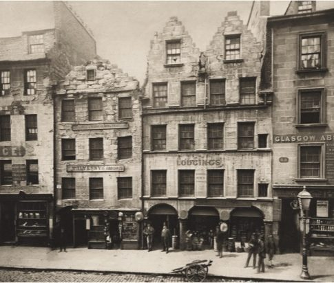 Thomas Annan (Scottish, 1829–1887) Old Buildings High Street, Nos. 17–27, 1868 From The Old Closes and Streets of Glasgow No. 34, 1900 edition Photogravure Courtesy Gottheiner, Ltd.