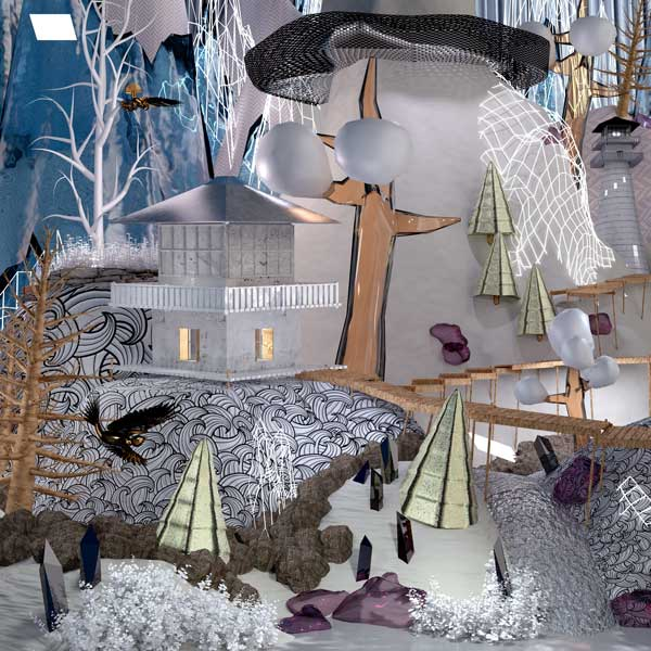 Jessie McDowell, Untitled (Chalet), 2015, Digital print of 3-D modeled image