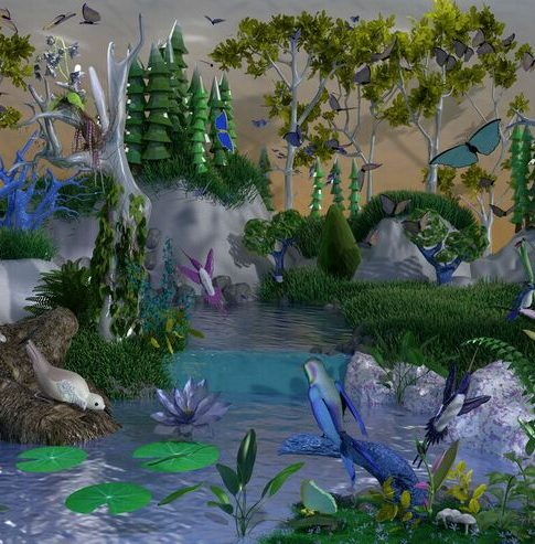 """Jessye McDowell """"The Natural Kinds (Reference Failure)"""" 26"""" x 16"""""""