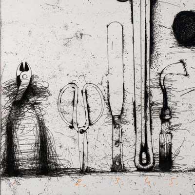 Detail of printing tools
