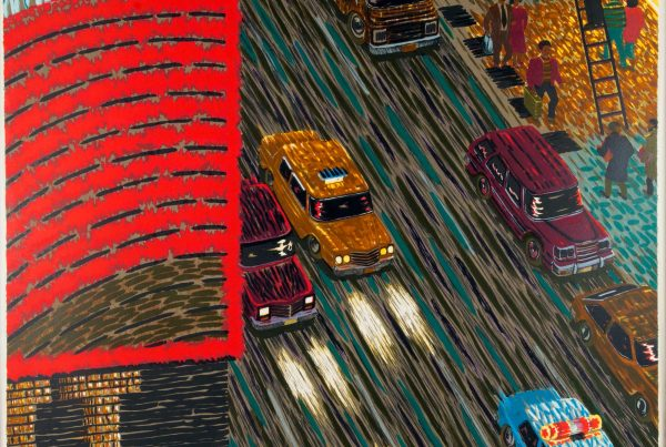 Print of Time Square at Night