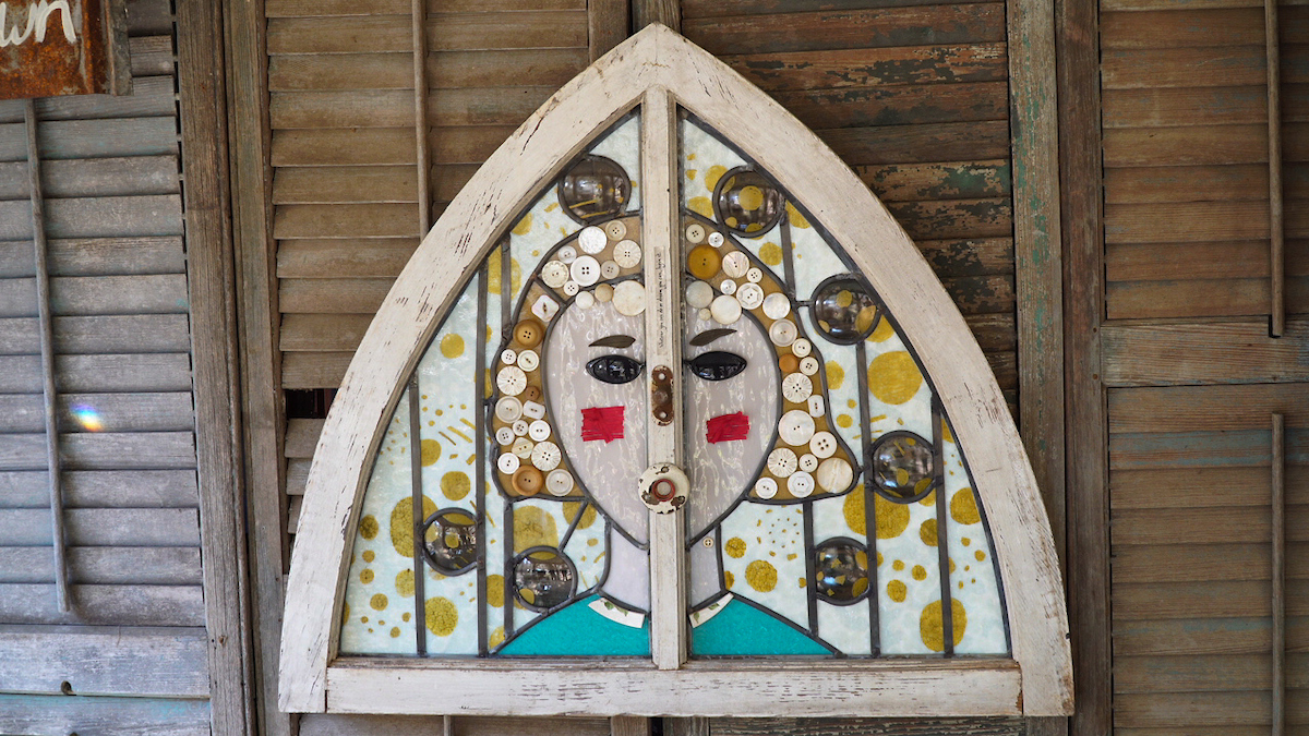 Stained glass artwork by Deborah Strawn.