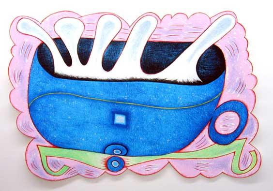 Elizabeth Murray (American, 1940–2007) Deep Blue C, 2001 Edition: 50, SP 9 14-color lithograph/screenprint, hand-cut 29 1/4 x 44 1/4 inches Courtesy of Gemini G.E.L. at Joni Moisant Weyl