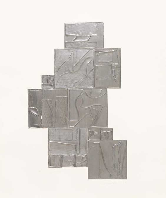 Louise Nevelson (American, b. Russia, 1899–1988) Night Tree, lead, 1972 Edition: 150, artist's proof AP-1 Lead intaglio Sheet: 31 x 25 1/4 inches Courtesy of Pace Prints