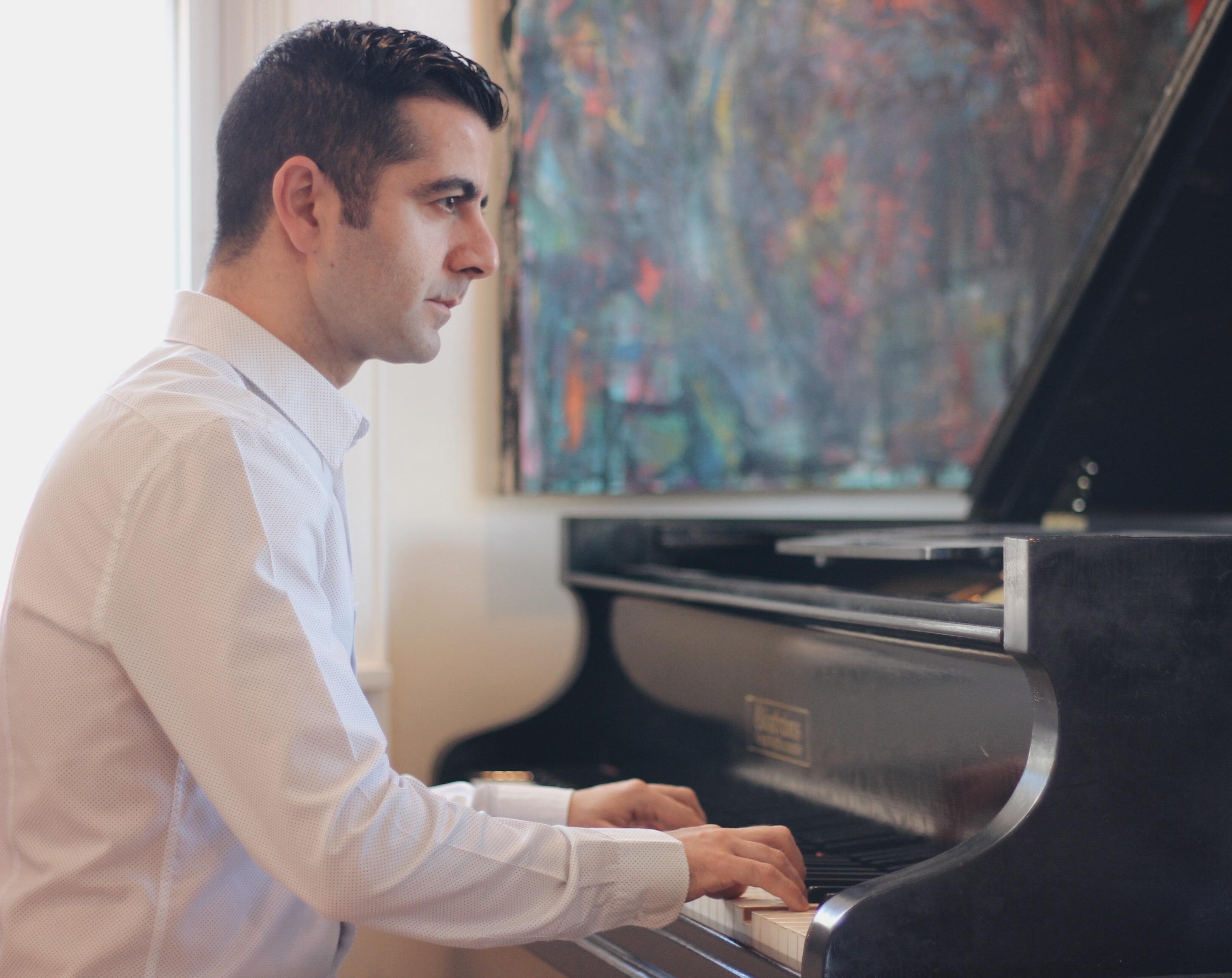 visiting pianist Armen Shaomian