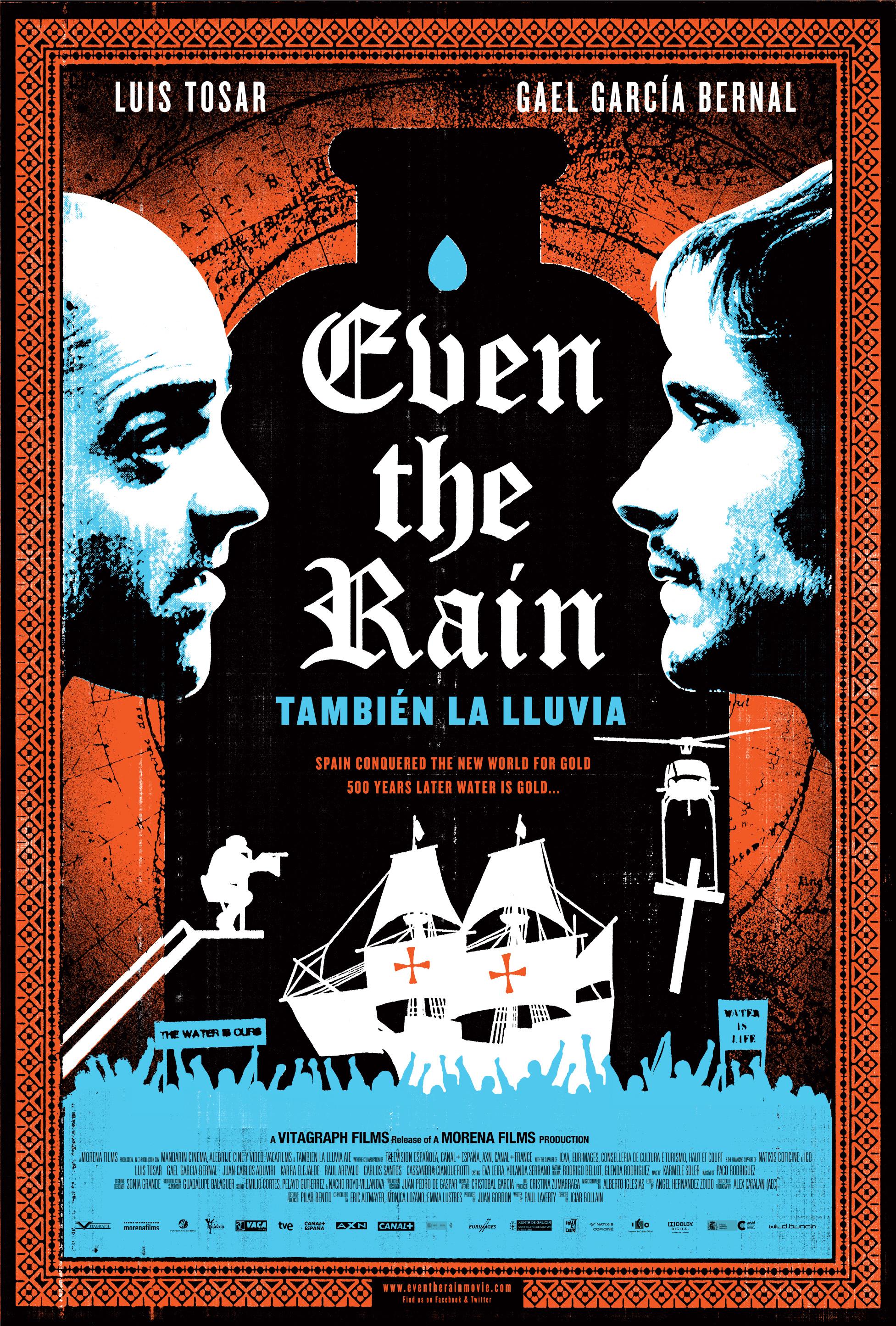 Movie poster for the film, También la lluvia
