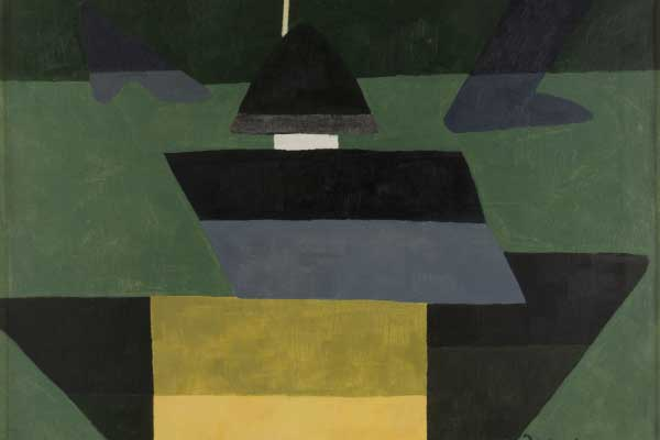 Arthur Dove (American, 1880–1946) Grey-Greens, 1942 Oil and wax emulsion on canvas Jule Collins Smith Museum of Fine Art, Auburn University; Advancing American Art Collection 1948.1.11