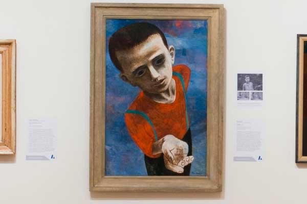 Installation of Ben Shahn's Hunger from Art Interrupted exhibition, 2012