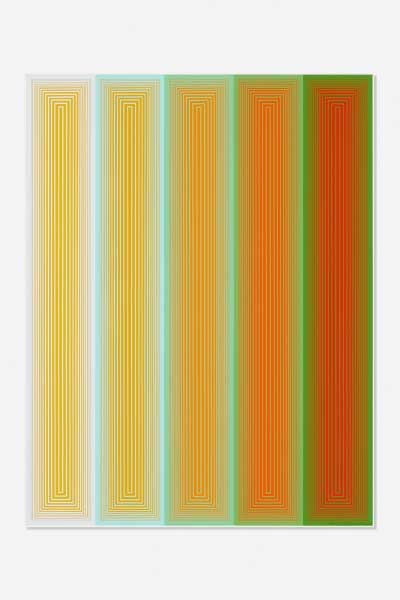 Richard Anuszkiewicz Untitled (from series Inward Eye)1970 Color serigraph on paper 25 3/4 x 19 3/4 inches Gift of Hugh L. Latta