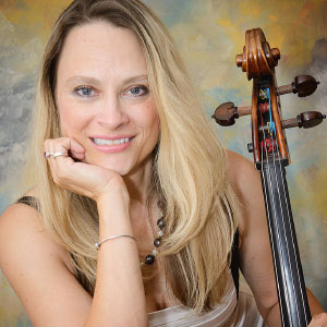 Charae Krueger poses with her cello.
