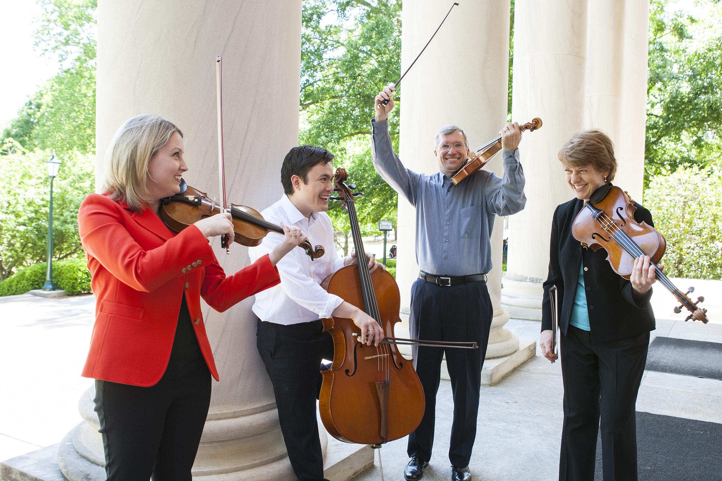 Members of the Samford String Quartet