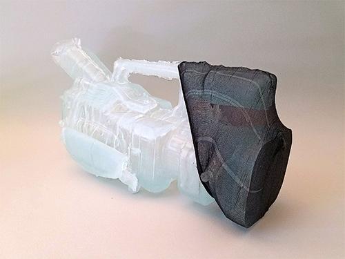 Jonathan Durham, Diffuser, 2018 Epoxy resin and nylon stocking 13 x 6 x 5 inches
