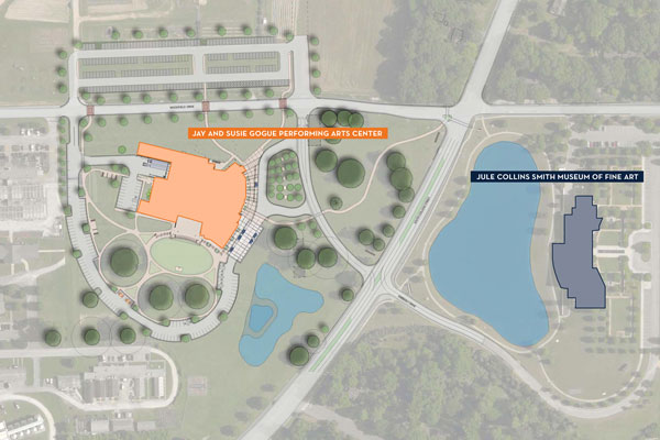 Site map of the Auburn Arts District