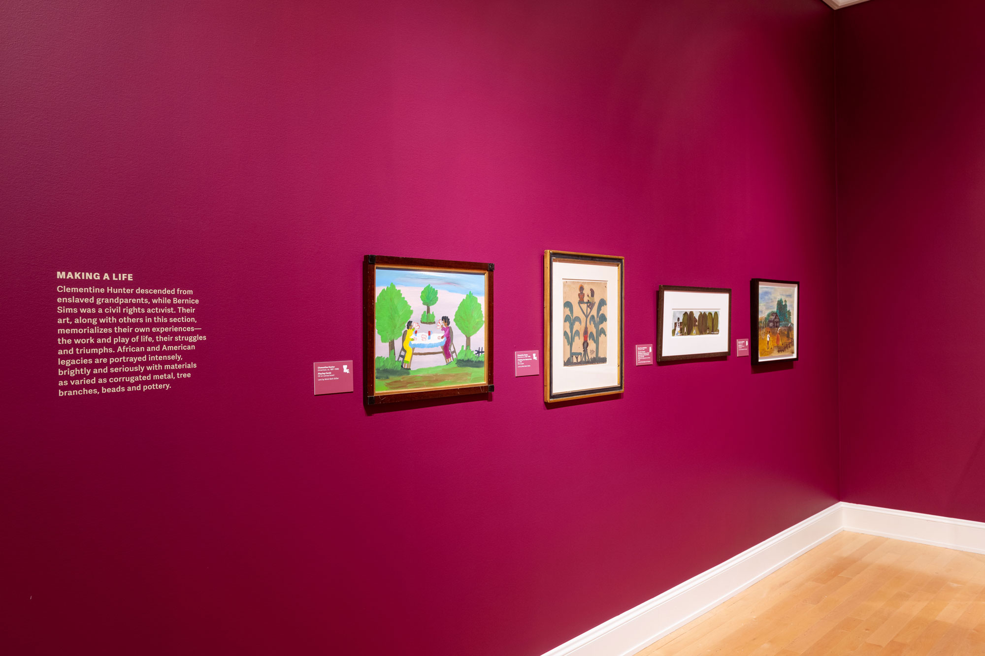 Outsider art work in the gallery