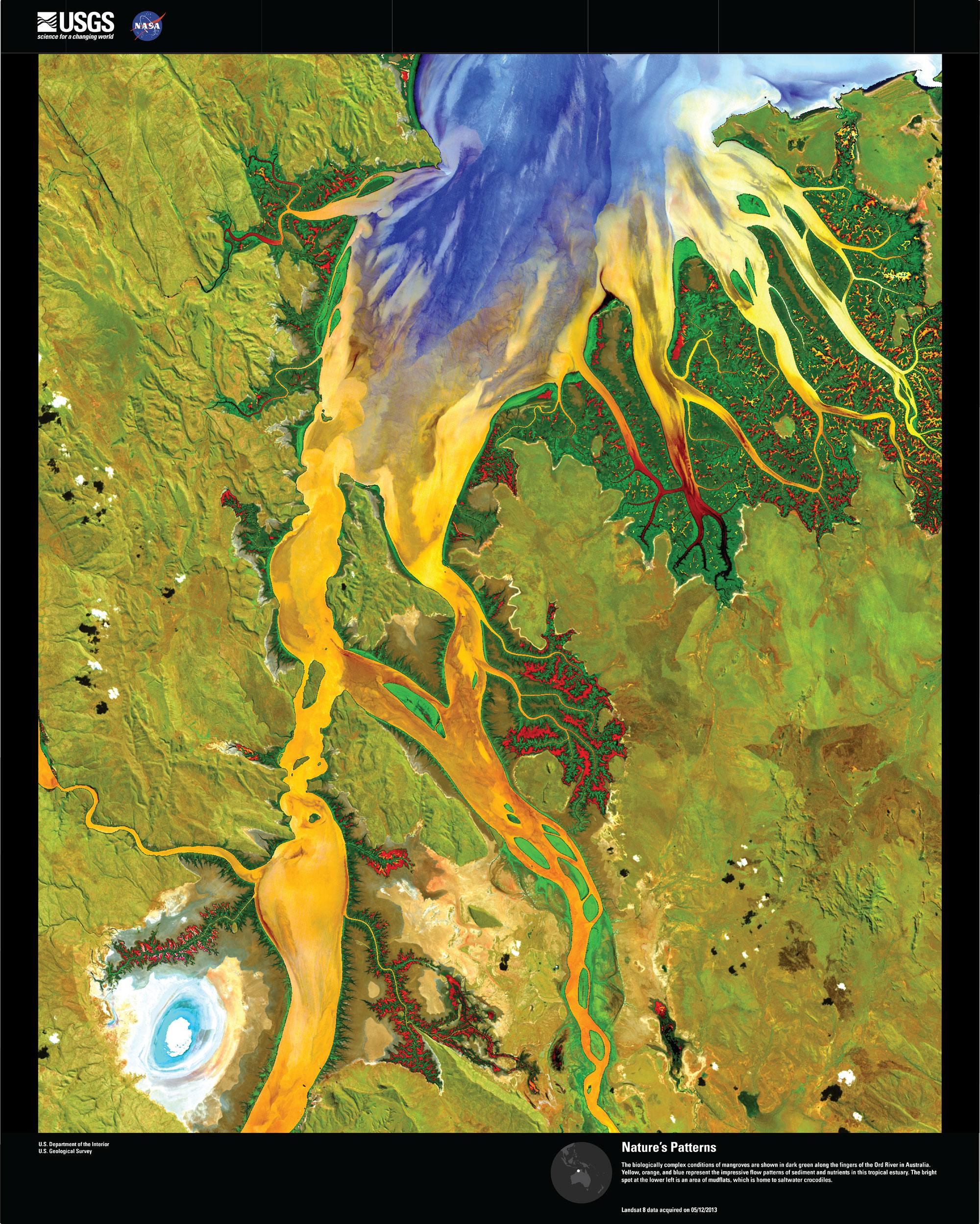 Satellite images of the Sahara desert.
