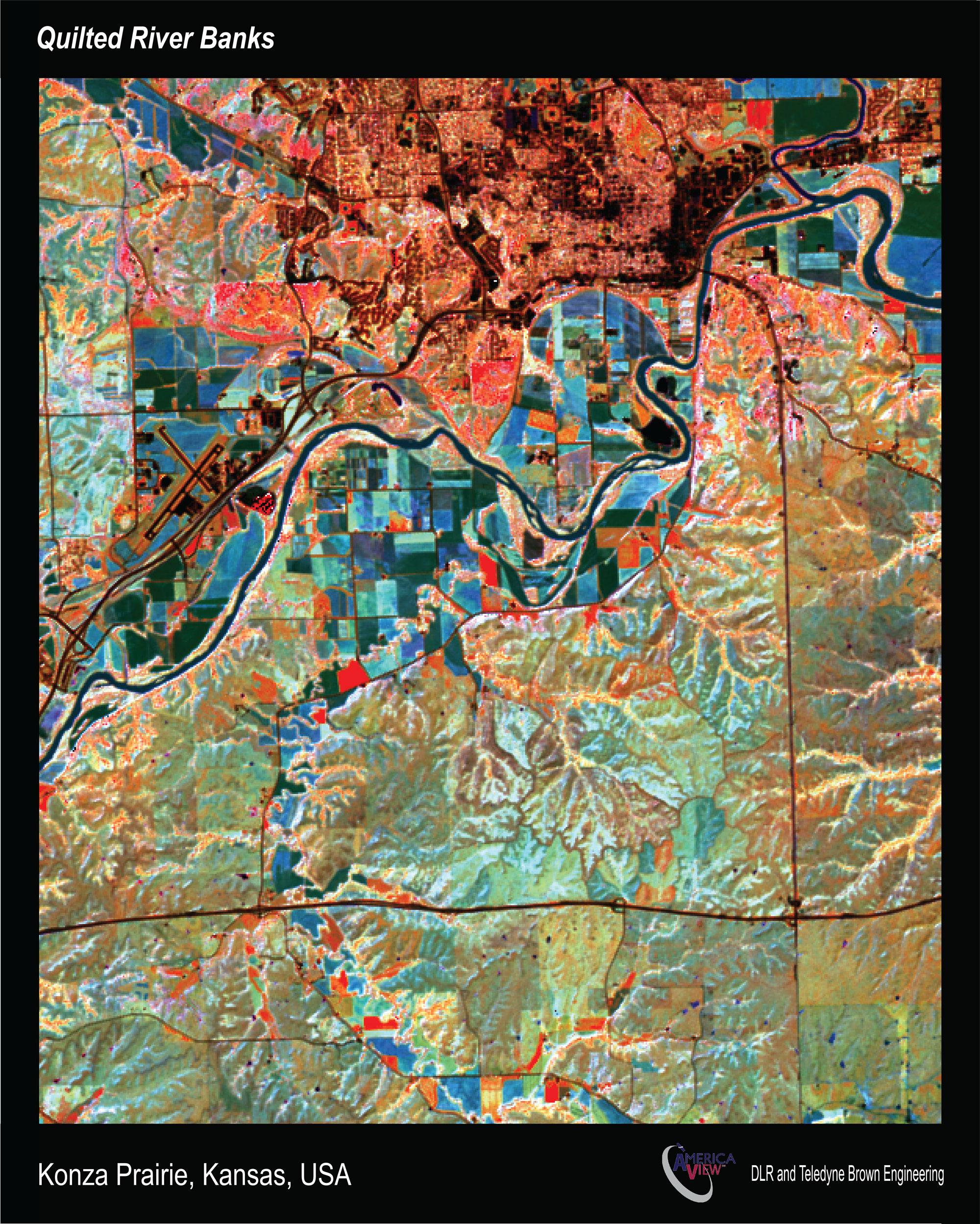 """""""Quilted Riverbanks"""", Konza Prairie, Kansas"""
