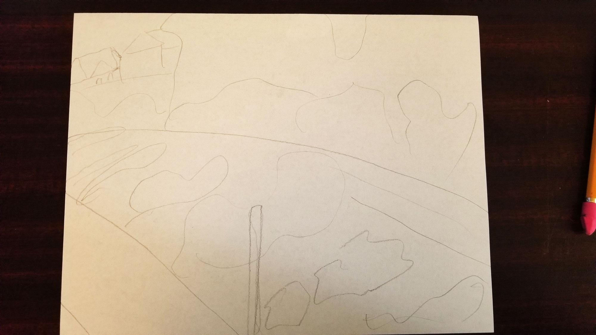 Rough sketch as landscape