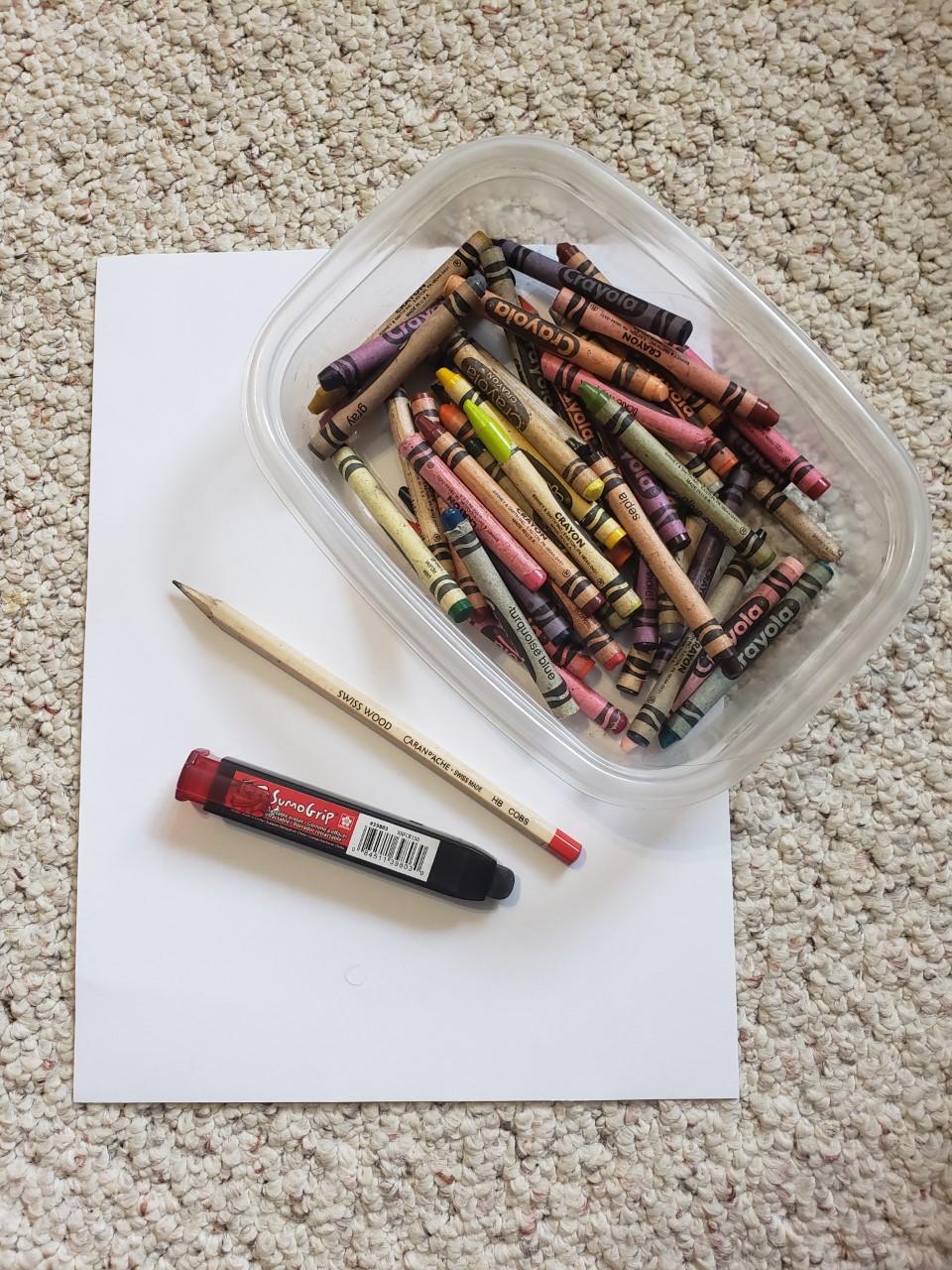Paper, pencil, eraser
