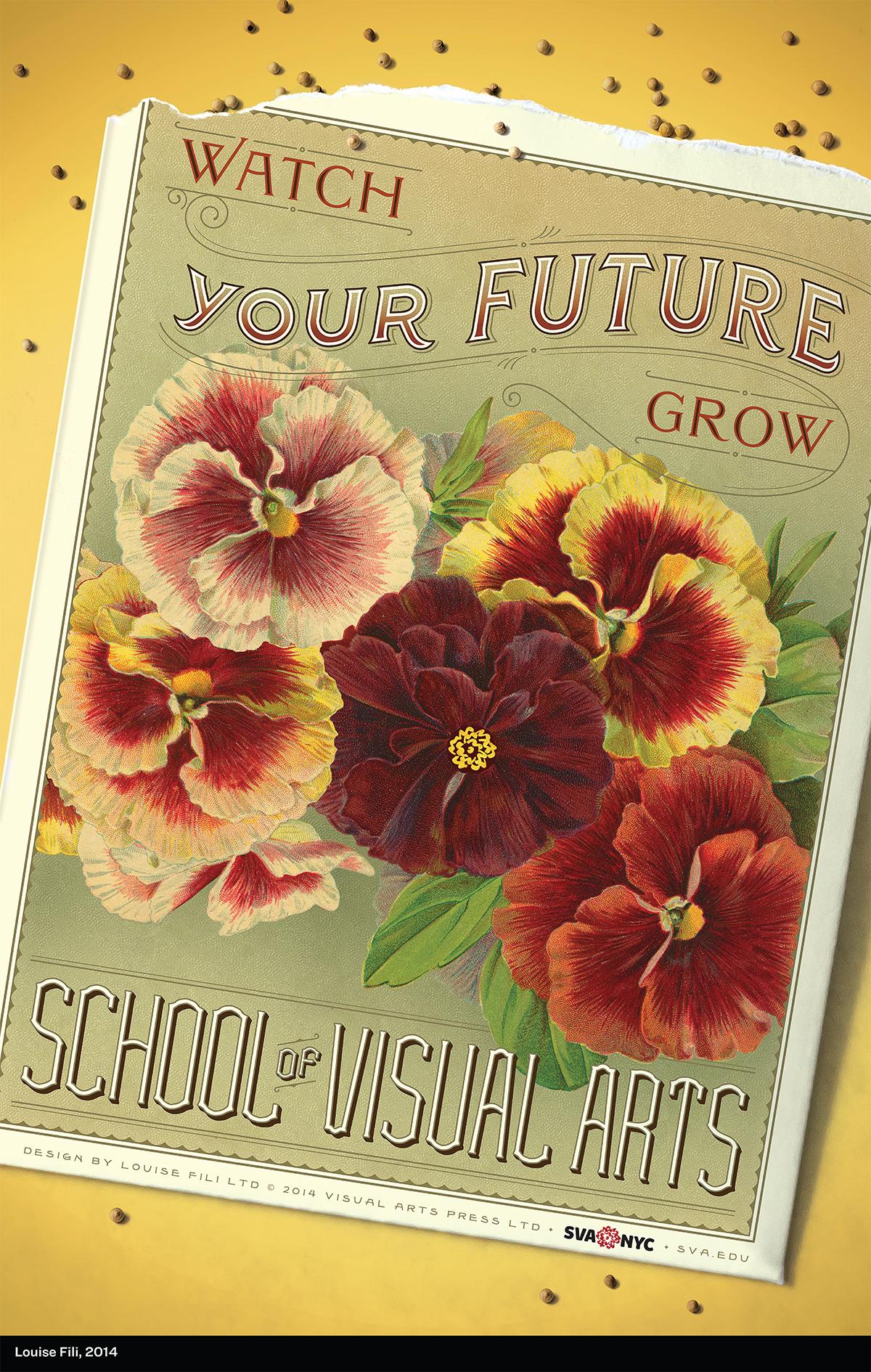 Poster advertising School of Visual Arts